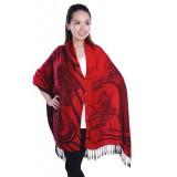 Autumnz Nursing Wrap - Oriental Crimson Black