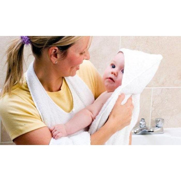 Clevamama Splash Wrap Baby Bath Towel White