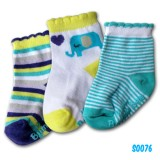 Bumble Bee - Blue Elephant Socks (3 pair)