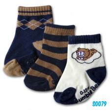 Bumble Bee - Classic Bear Socks (3 pair)
