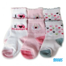 Bumble Bee - I Love Mommy Socks (3 pair) S0085