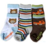 Bumble Bee - Bear Car Socks (3 pair)