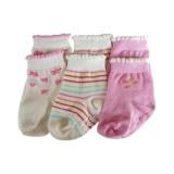 Bumble Bee - Pink Flower Socks (2 Pair)