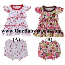 Adorable - Baby Girl Dress with Matching Pants (Set A)