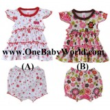 Adorable - Baby Girl Dress with Matching Pants (Set B)