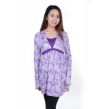 Autumnz - Splendid 2-in-1 Maternity/Nursing Tunic (Lilac)