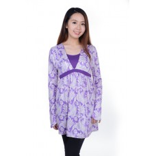 Autumnz - Splendid 2-in-1 Maternity/Nursing Tunic (Lilac)