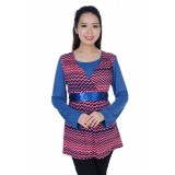 Autumnz - Flirty 2-in-1 Maternity/Nursing Tunic (Pink/Blue)