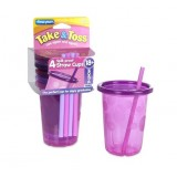 The First Years - Take & Toss Spill-Proof Straw Cup 10oz (4pk)