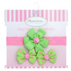 Autumnz - Baby Headband & Hairclips *Cheerful*