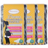 Autumnz - Premium Disposable Panty *3 Packs* (5pcs/pack) *BEST BUY* (Assorted White)