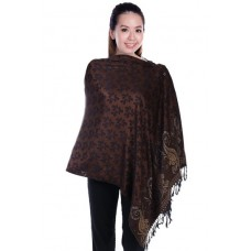 Autumnz Nursing Wrap - Frangipani (Deep Brown)