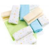 Adorable - 12pcs Comfy Washcloth *Green with Spots*