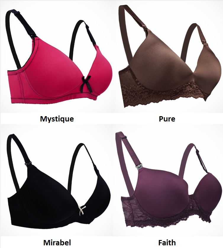 c7ac416dbc Autumnz - Moulded Non-Wired Bra  TWIN Pack  (Faith  Lauren