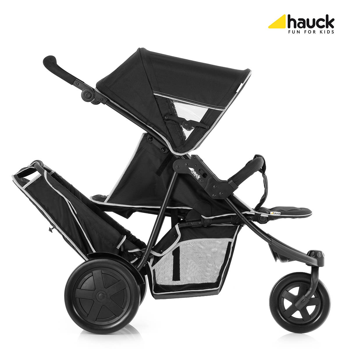 Hauck Freerider Single Twin Stroller Black